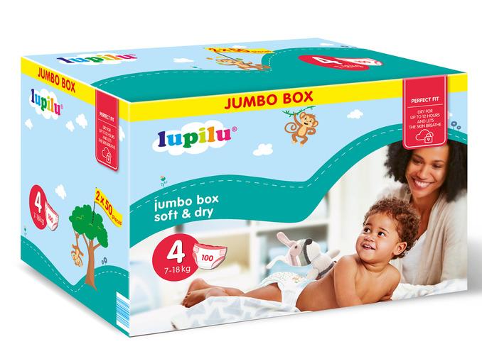 [Od 8 marca] Pieluszki Lupilu Jumbo Box za 37,99zł @ Lidl