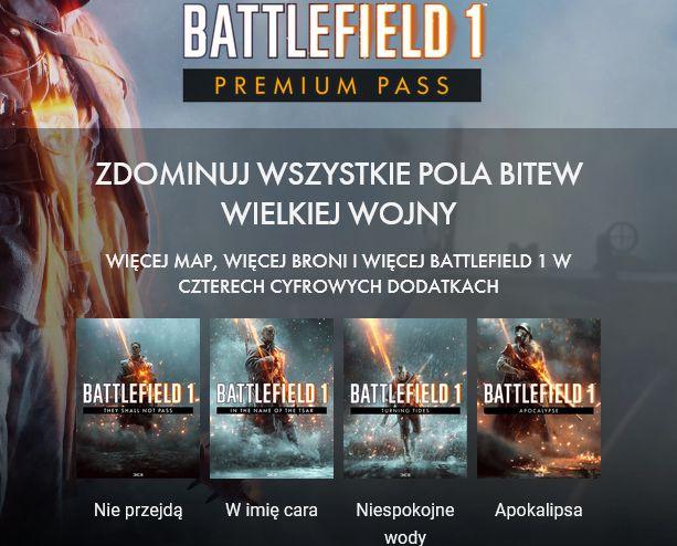 PS4 Xbox Battlefield 1 Premium Pass za darmo w dniach 6-12 marca, wymagana gra Battlefield 1
