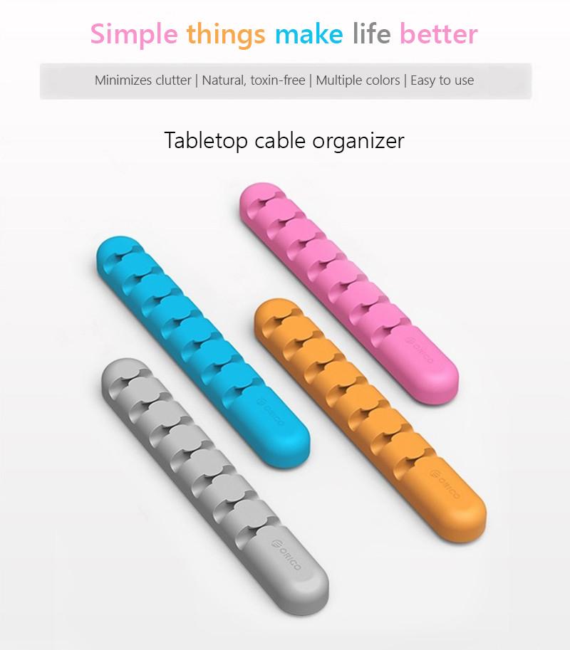ORICO tabletop cable organizer - ponownie wszystkie kolory ( 3,49 zł 0,99 $ )