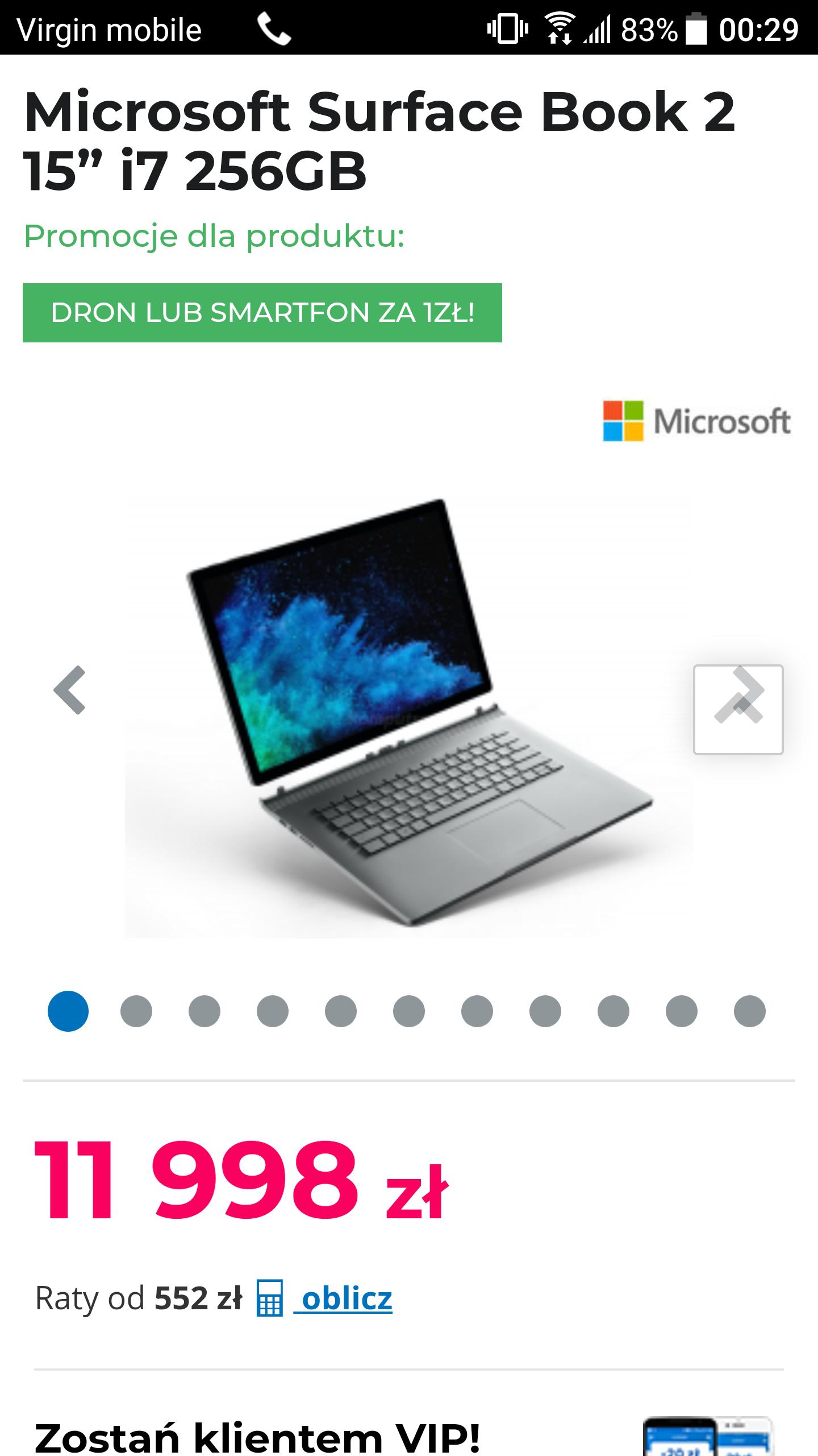 Dji spark/galaxy s8 64 GB do Surface book 2 w komputronik