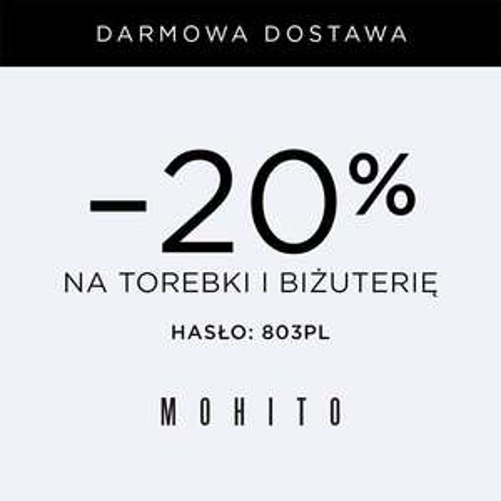 -20% Mohito na torebki i biżuterię