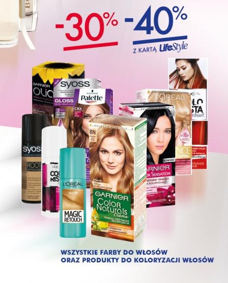 -40% na wszystkie farby do włosów (z kartą) @ Super-Pharm