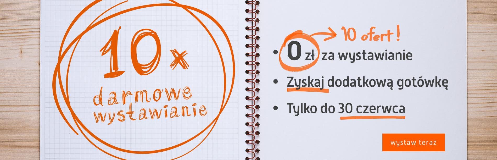 Wystawienie 10 ofert ZA DARMO @ Allegro