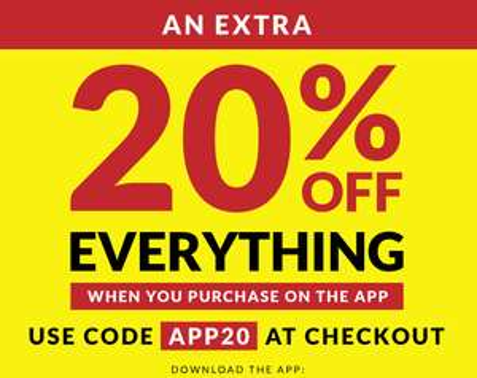 20% rabatu na wszystko w Sports Direct przy zakupach w aplikacji mobilnej