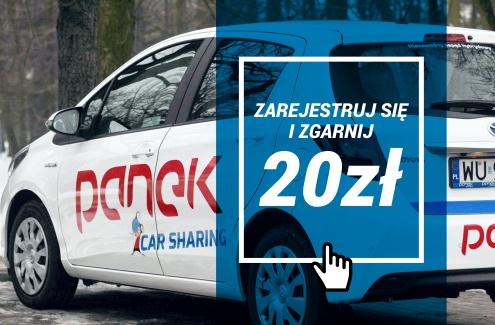 Panek Car Sharing 20 PLN na start W-WA
