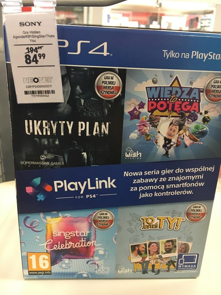 PS4 PlayLink (Wiedza To Potęga, Singstar, Ukryty Plan, To Jesteś TY!) - Neonet