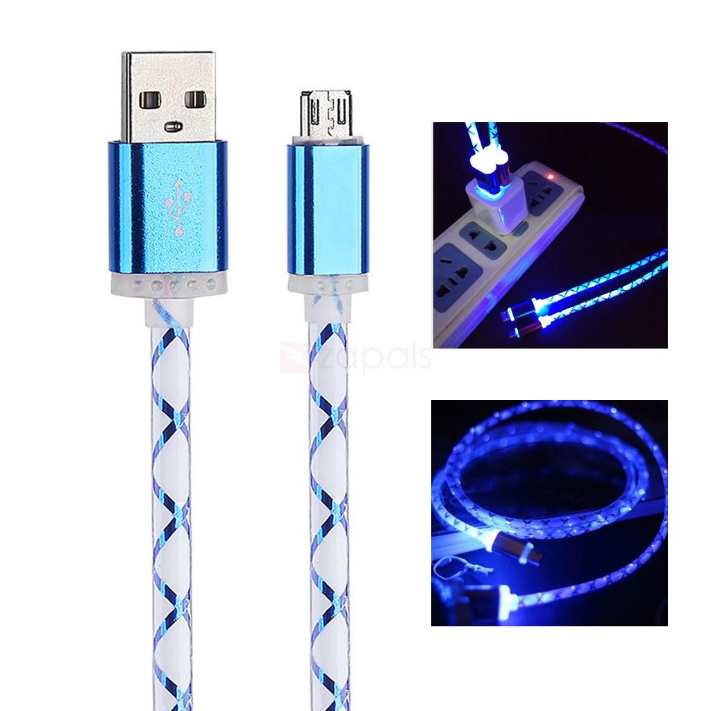 Świecący kabel LED Micro USB - USB, 1m