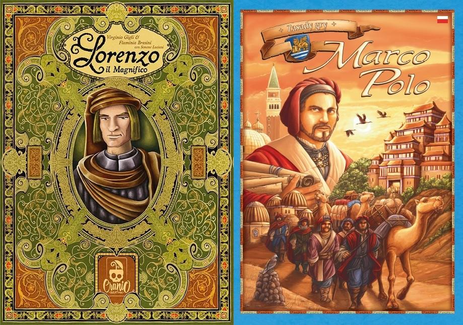 Gry Planszowe - Marco Polo /  Lorenzo il Magnifco