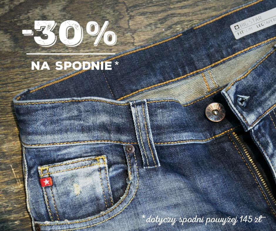 -30% na buty i spodnie @ Big Star