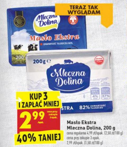 Masło 2,99 zł za szt. przy zakupie 3  - Biedronka