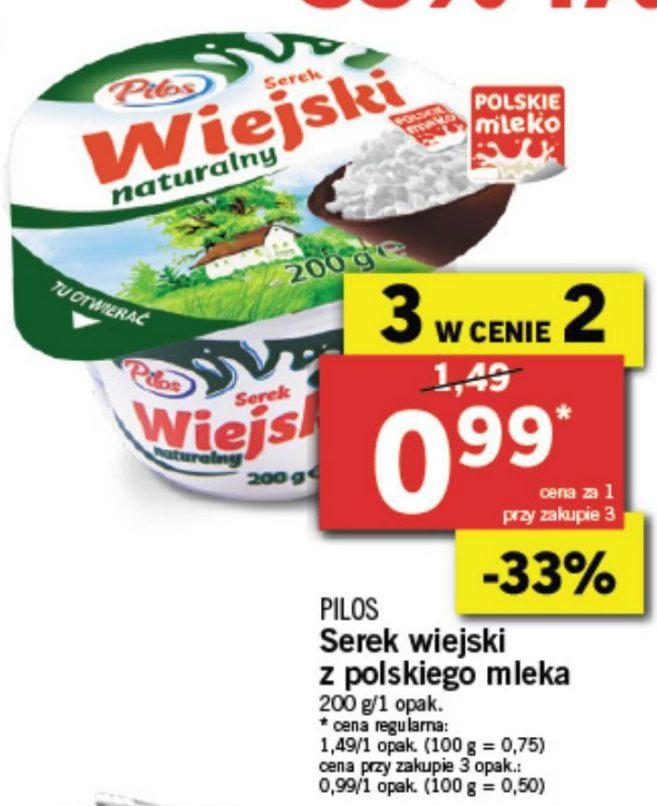 Tanie białko z Lidla. Serki wiejskie 3 w cenie 2