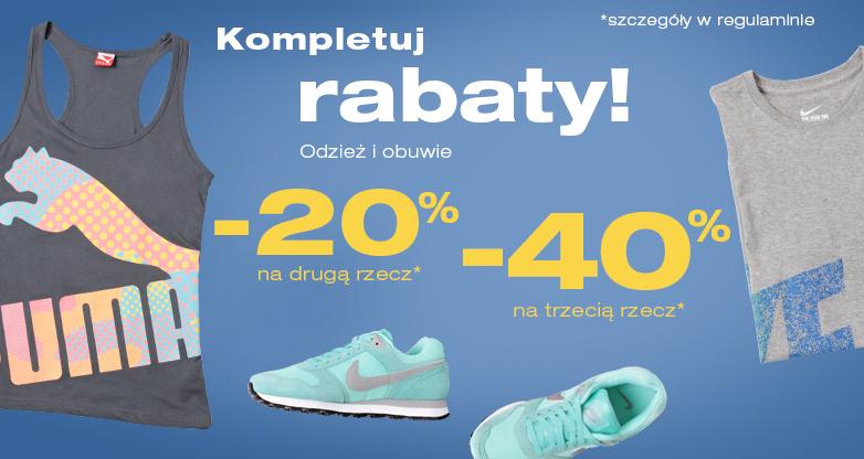 Rabat 20% na drugą rzecz i 40% na trzecią @ 50 Style