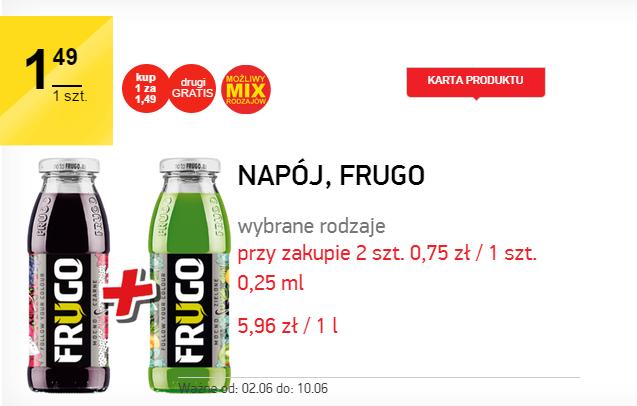 2 w cenie 1 Frugo w butelce 250ml @ Intermarche