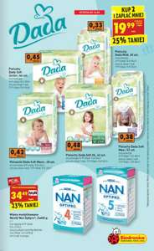 Pieluszki Dada Extra Soft za 19,99zł (+ promocja na mleko i słoiczki) @ Biedronka