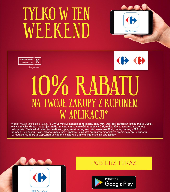 10% rabatu na zakupy z aplikacją @ Carrefour