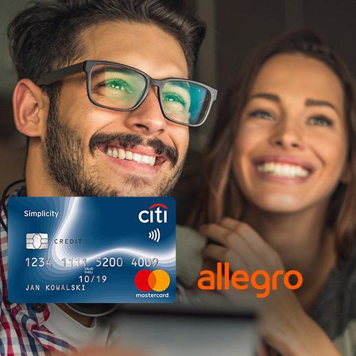 Bon 300 zł do wydania na Allegro za przetestowanie darmowej karty kredytowej Citi Simplicity