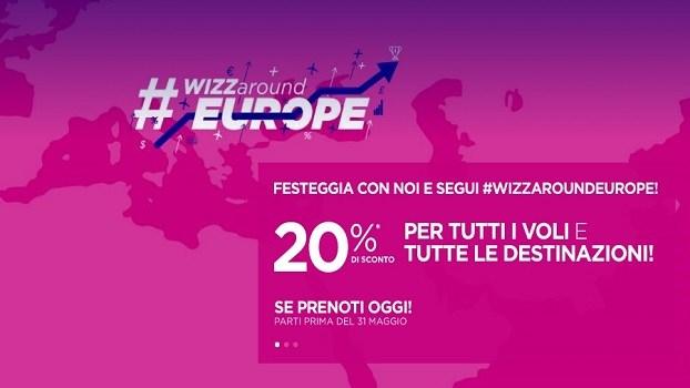 Wizzair: -20% na wszystkie kierunki dla wszystkich