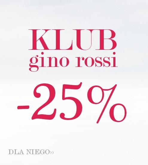 25% rabatu dla klubowiczów @ Gino Rossi