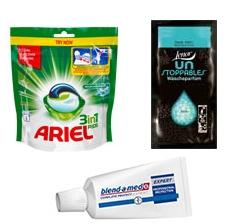 Darmowe próbki pasty Blend-a-Med, kapsułek do prania Ariel oraz perełek zapachowych Lenor