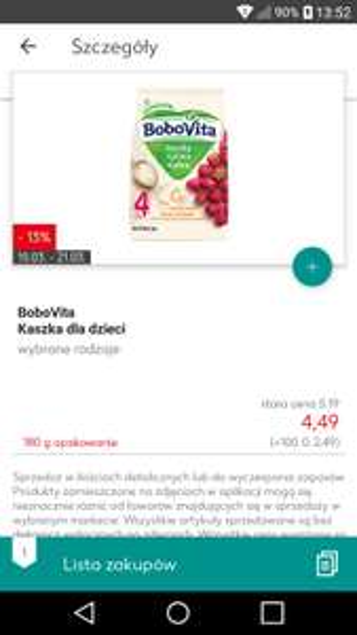 Kaszka BoboVita dla dzieci 180g - Kaufland