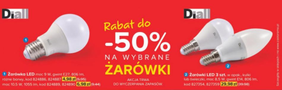 Castorama - rabat do 50% na żarówki