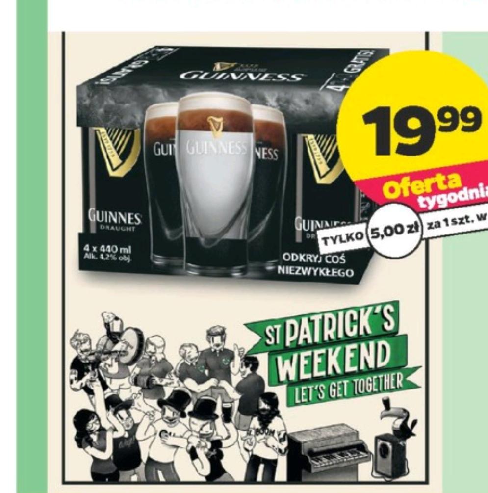Guinness 4x 0,44l plus szklanka zestaw w Netto