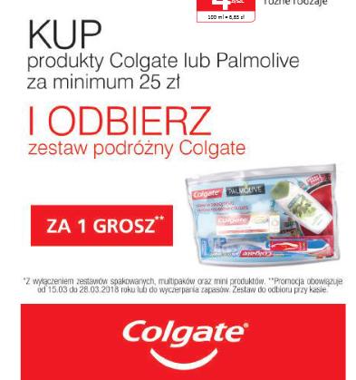 Zestaw podróżnych kosmetyków za 1grosz przy zakupie produktów Colgate lub Palmolive za min.25zł @ Natura