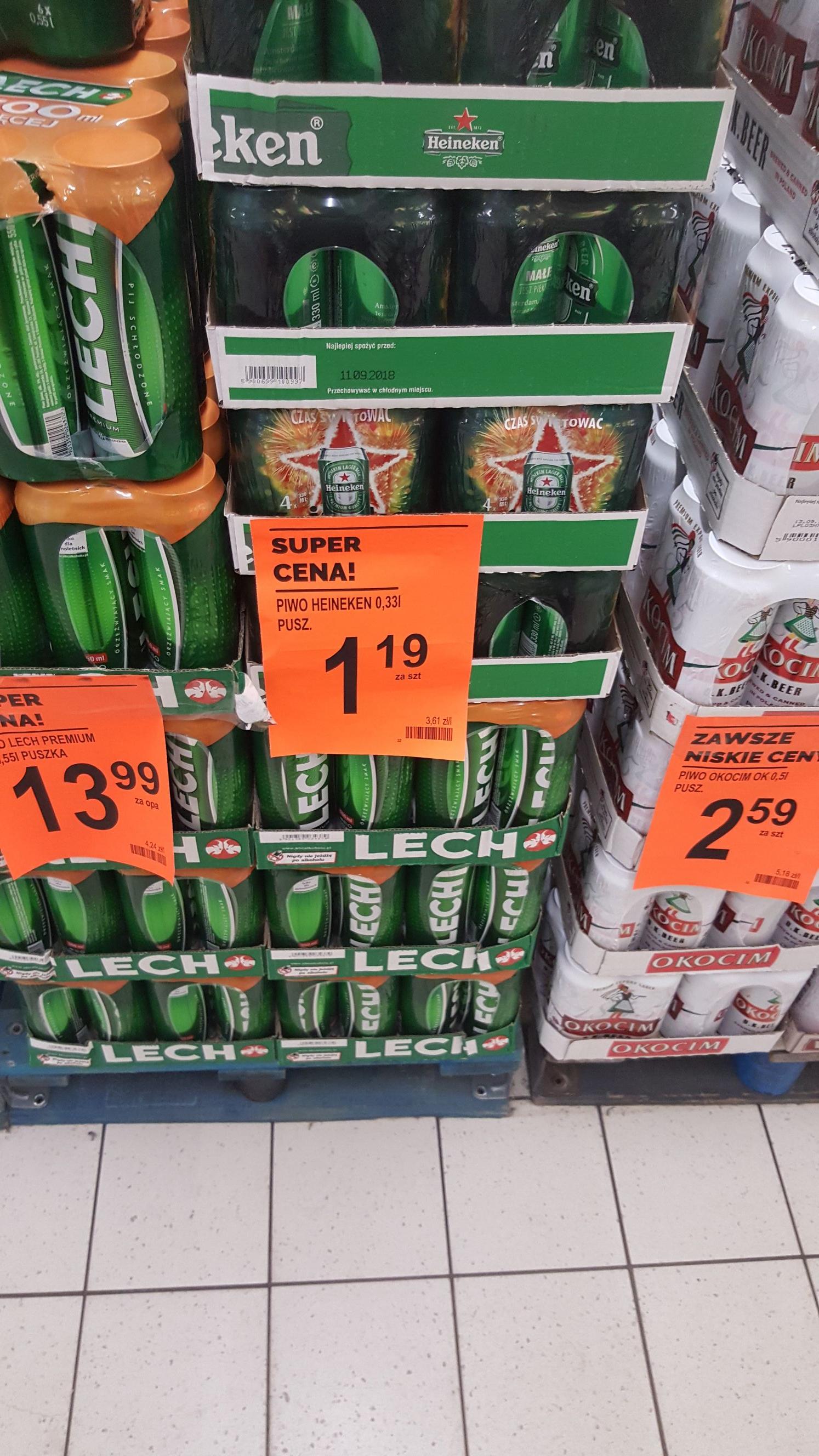Heineken 0.33 @ Biedronka (Będzin)