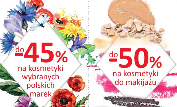 Drogeria Natura - promocja na kosmetyki kolorowe do 50%