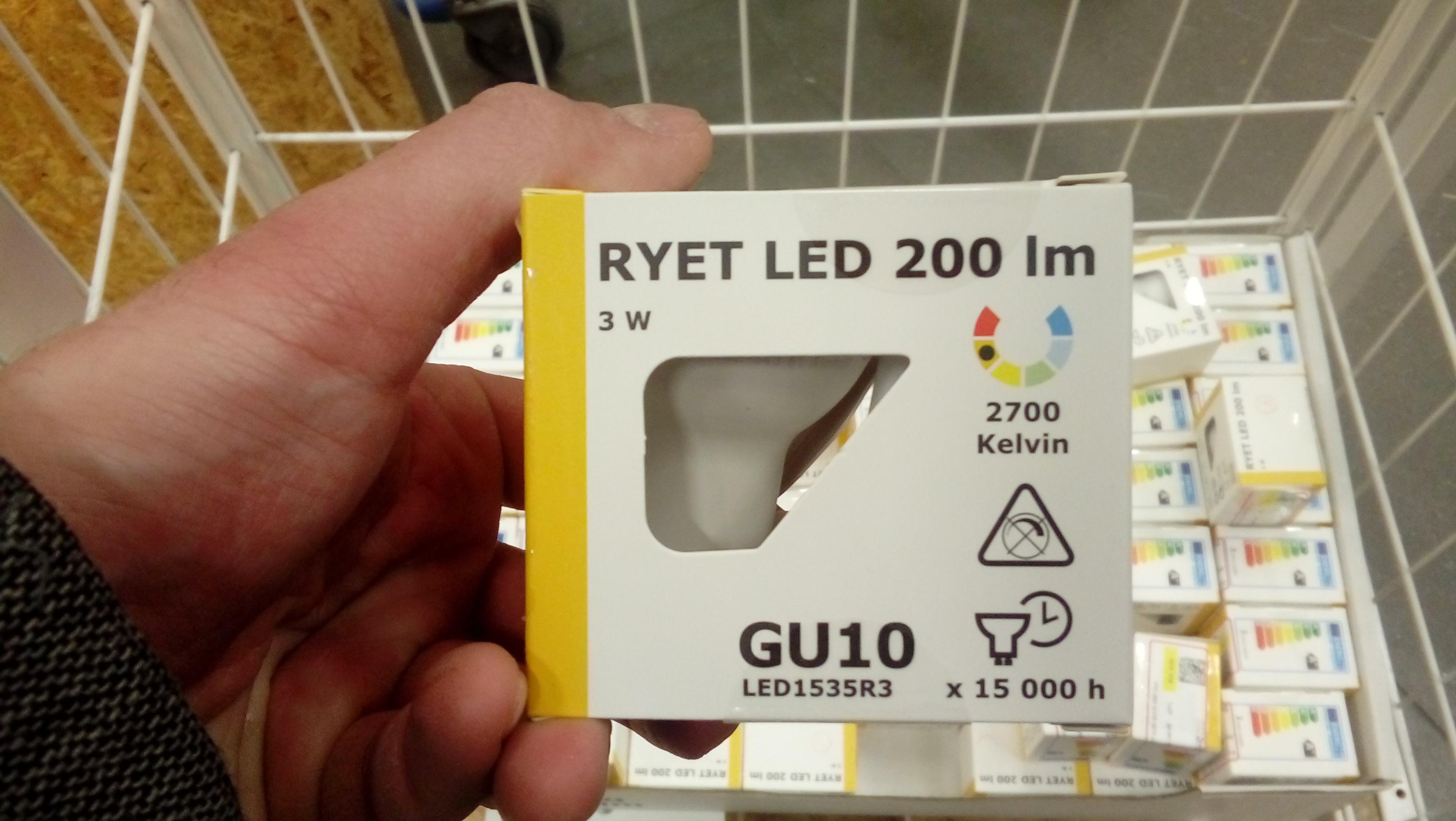Żarówki GU10 3W w Ikea - 2szt za 4,90zł