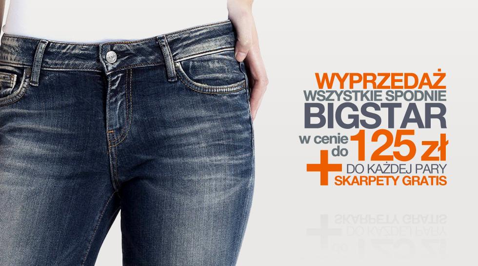 Wszystkie spodnie Big Star po 125zł, paski po 65zł @ Jeans24h