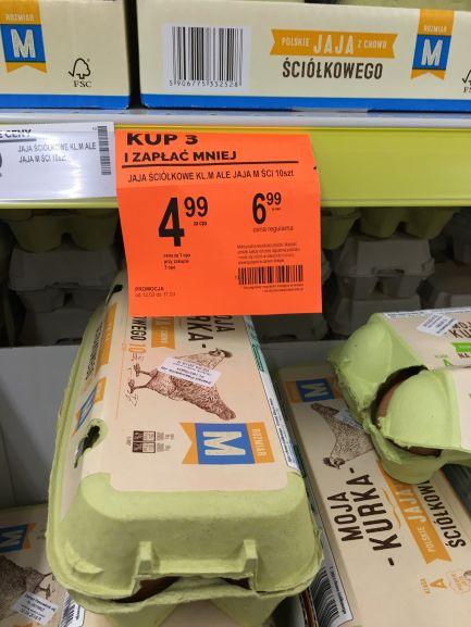 Jajka w biedronce przy zakupie 3 opakowań