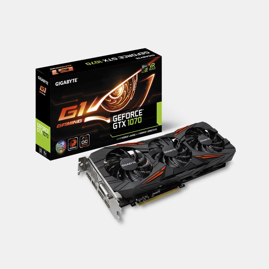 Gigabyte GeForce GTX 1070 lub (+$120) 1080 G1 Gaming 8G - karta graficzna