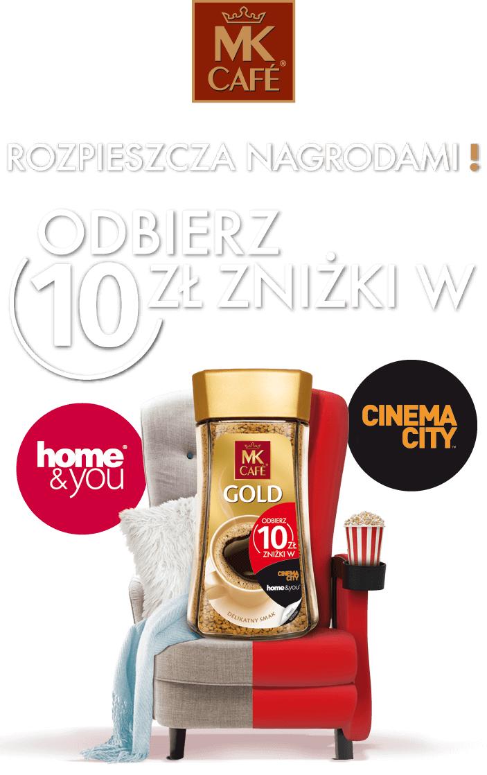 MK Cafe Rozpieszczalna - zniżka 10 zł do Cinema City i Home&You.