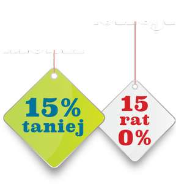15% rabatu na meble i dodatki + 15 rat 0% @ Black Red White