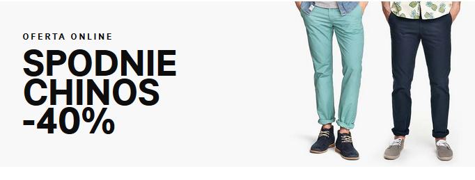 Spodnie chinos z rabatem -40% @ H&M