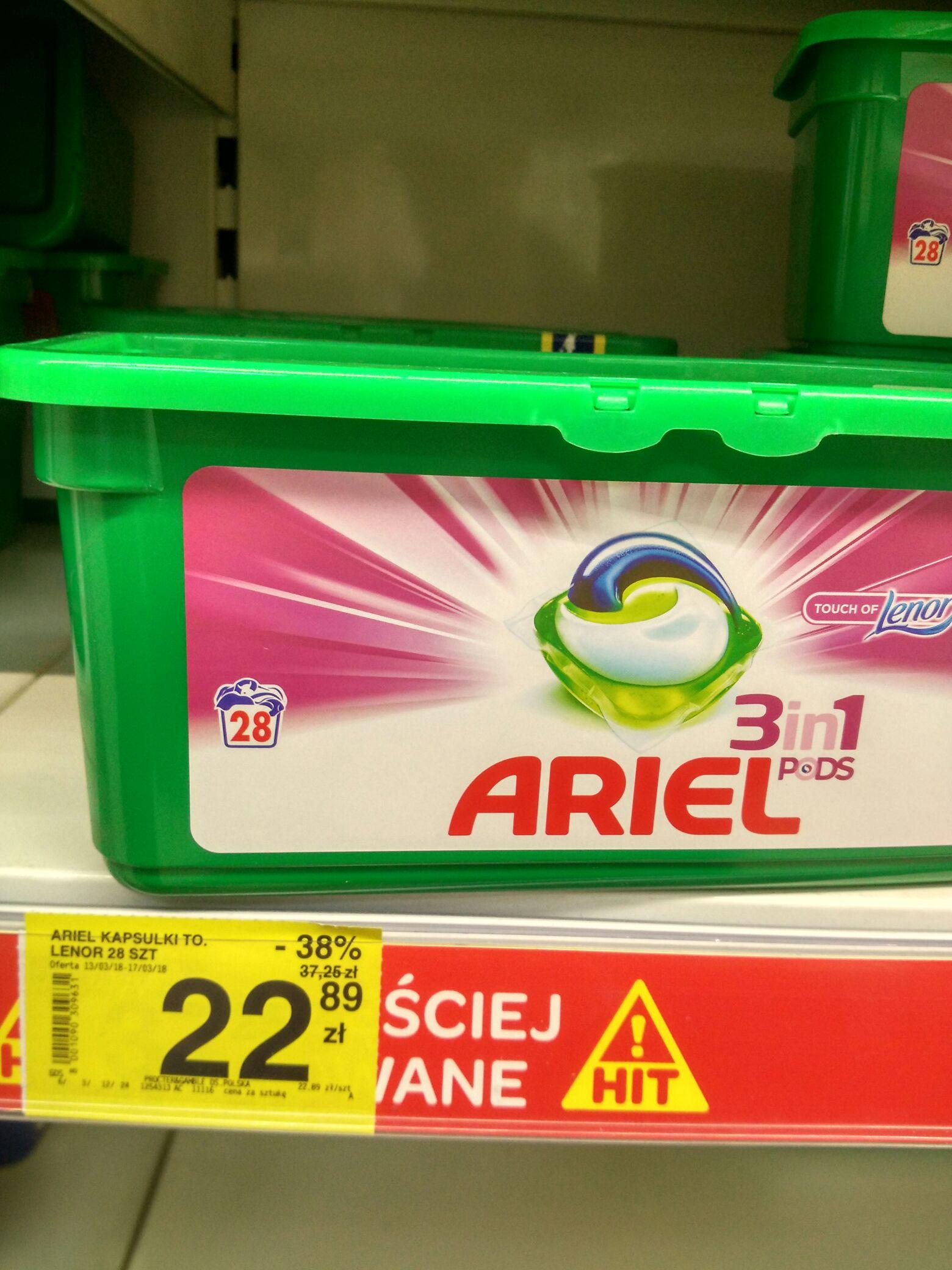 Ariel - kapsułki do prania 28 szt za 22.89zł