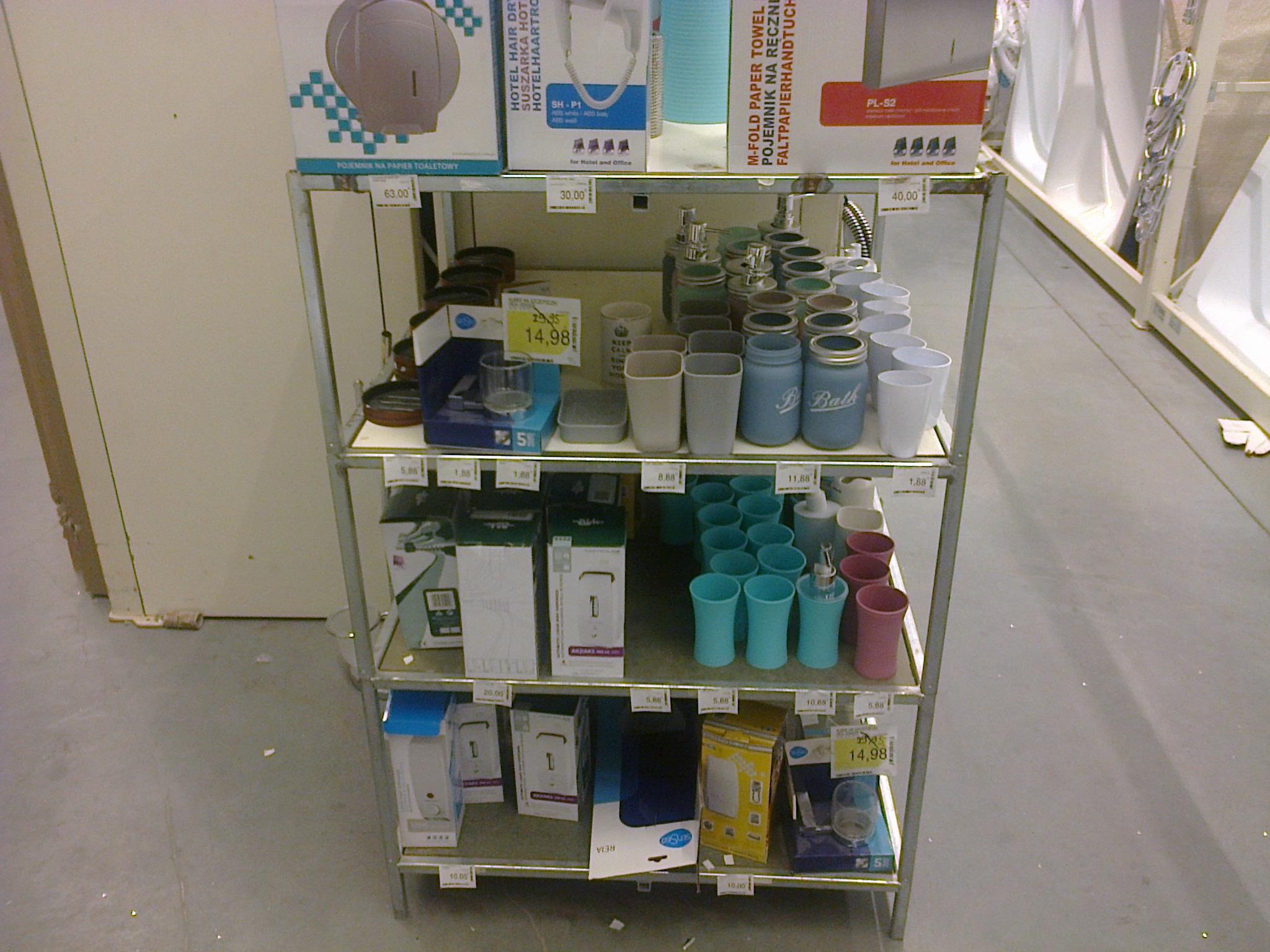 MIX akcesoriów łazienkowych