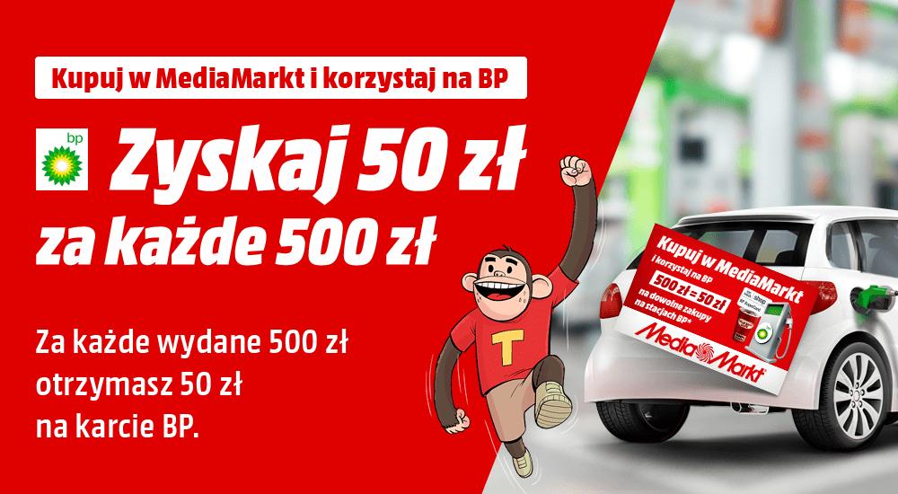Media Markt Za każde wydane 500 zł 50 zł do wydania na BP