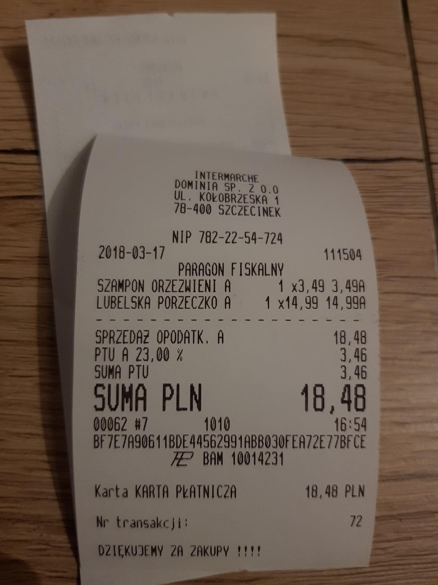 Intermarche lubelskie likiery smakowe 0.5l  30%