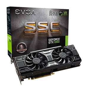 EVGA GeForce GTX 1060 6GB SSC GAMING na Amazon.it (319.68 €)