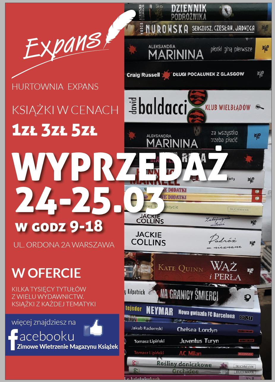 wyprzedaż książek w cenach 1, 2 i 5 zł (Warszawa)