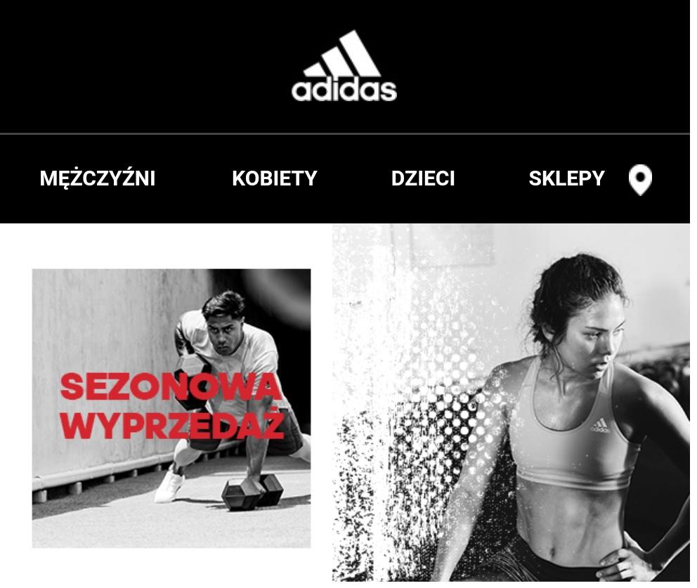Adidas -50% damskie, męskie, dziecięce.