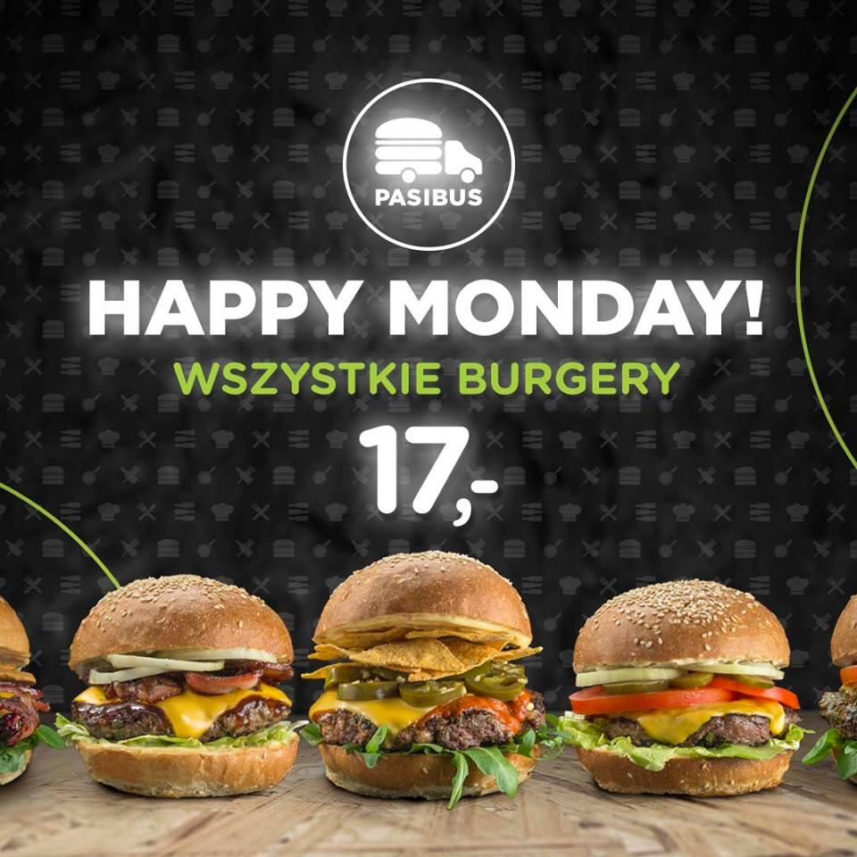 Happy Monday w PasiBusie na wszystkie Burgery!