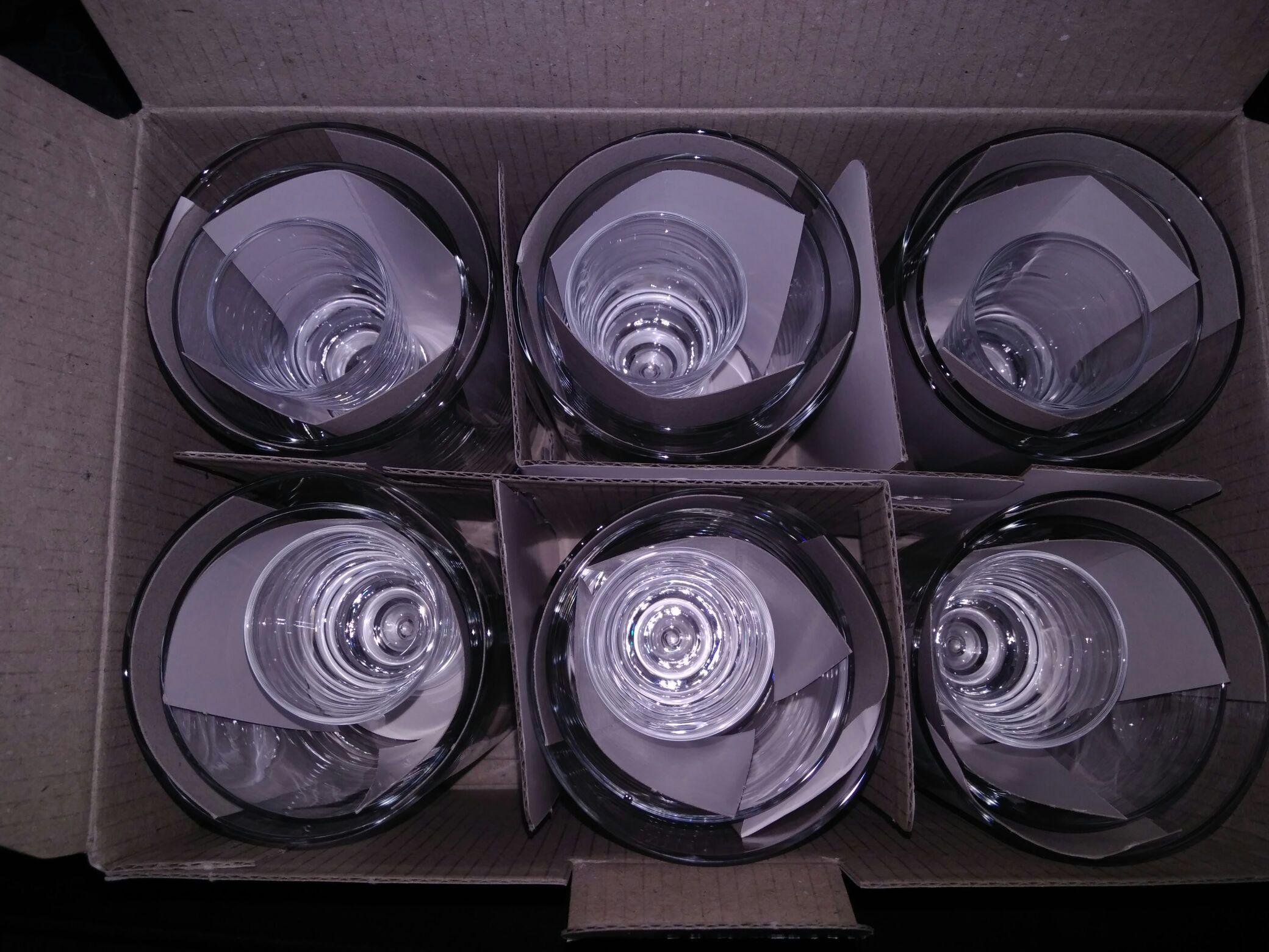 Komplet szklanek i kieliszków