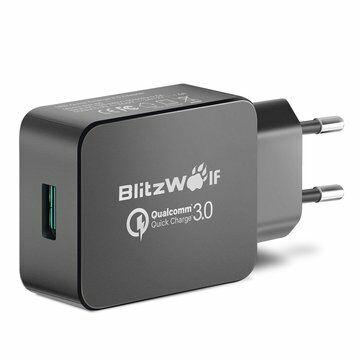 Ładowarka BlitzWolf® BW-S5 QC3.0 18W USB Charger EU Adapter With Power3S Tech