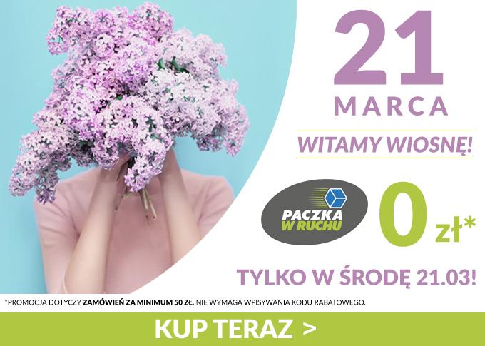 Ezebra.pl wita wiosnę darmowa paczka w ruchu za zamówienia na min. 50 zł.