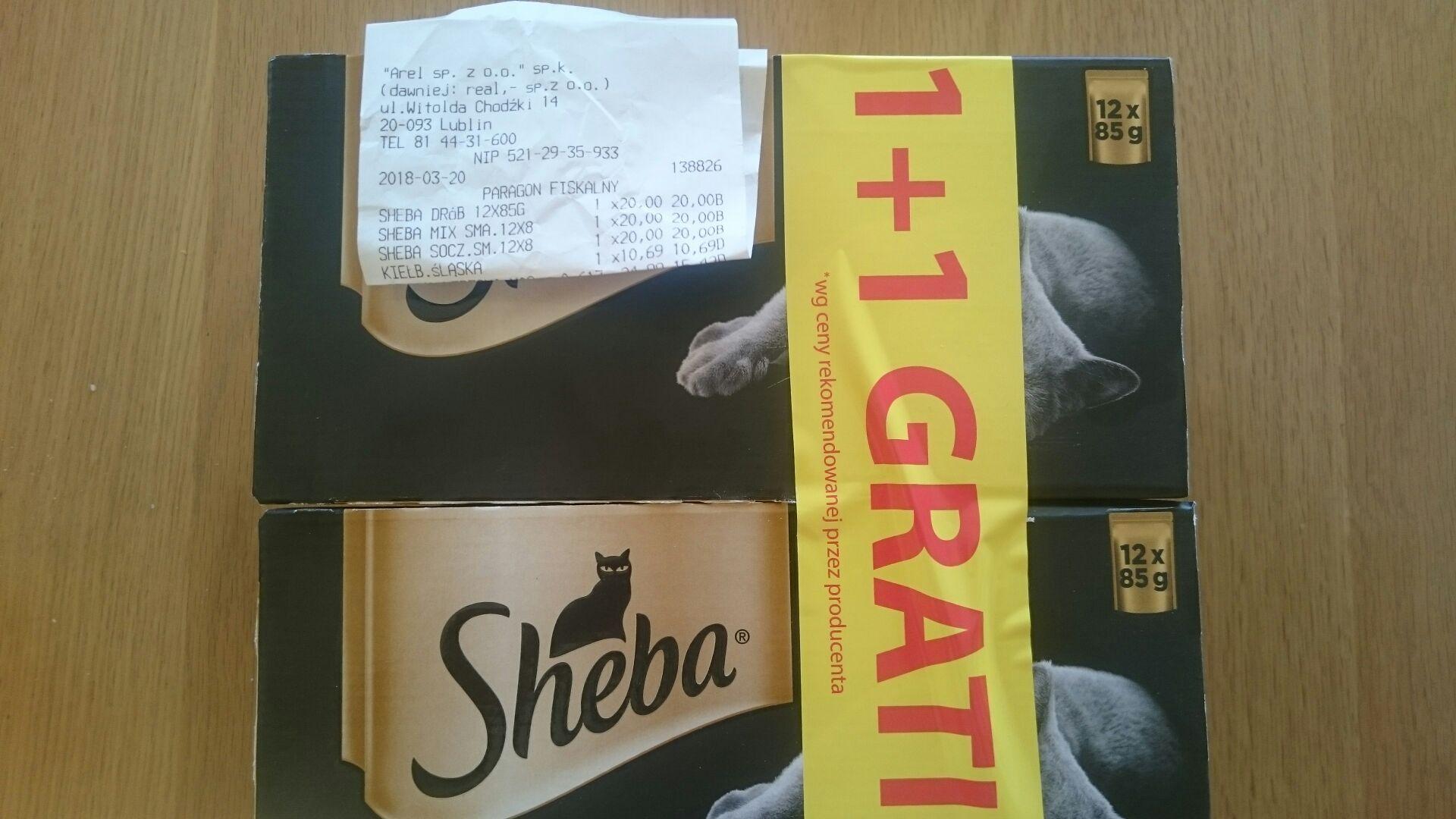 Kocie żarcie sheba 1+1 gratis Auchan Lublin