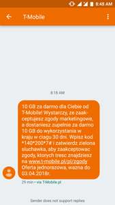 10GB internetu za darmo od T-Mobile