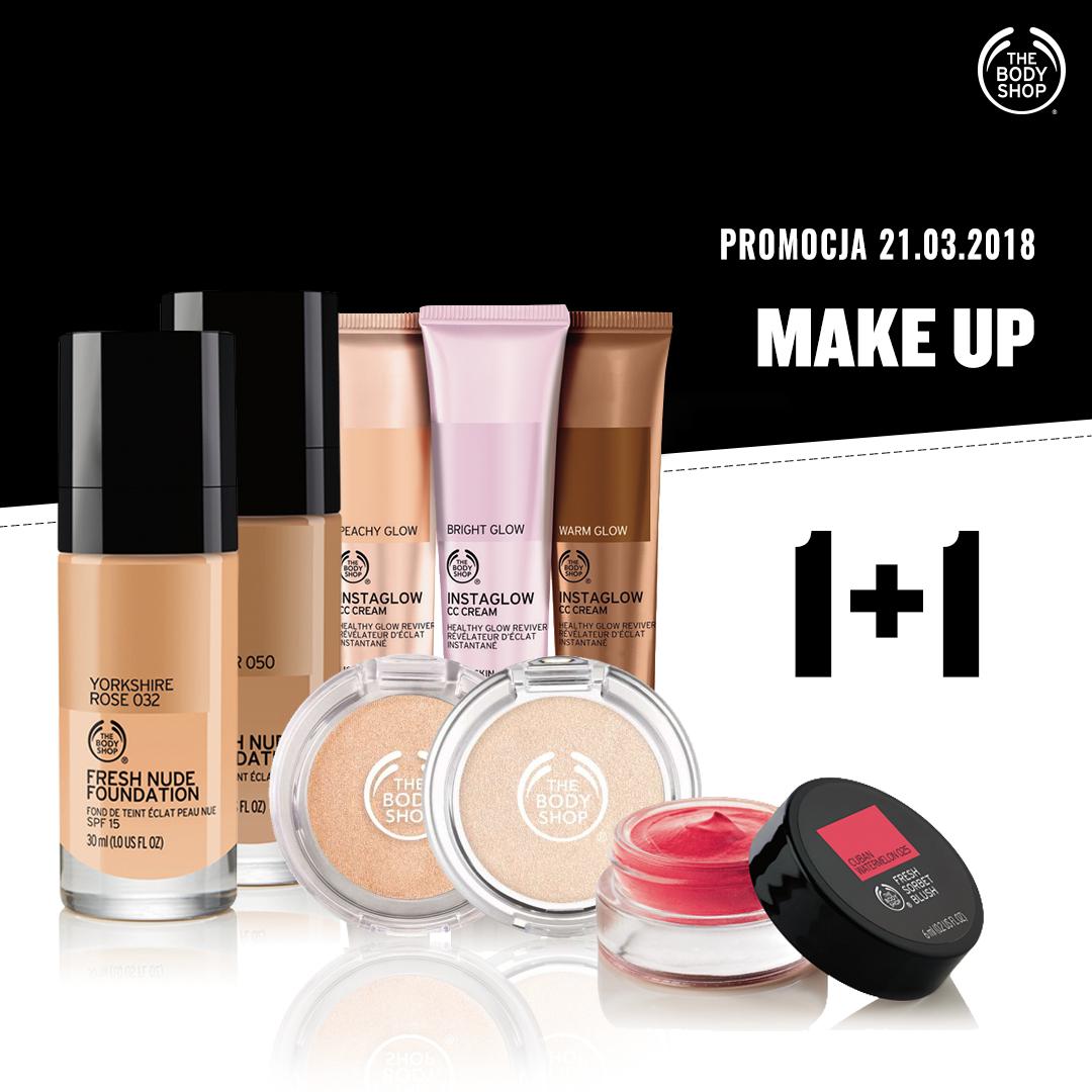 1+1 na make up oraz 3za2 na cały asortyment @ The Body Shop